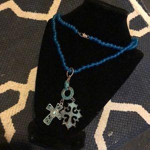 Blue apatite  necklace.